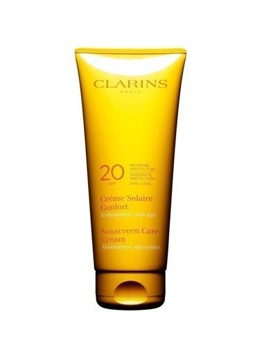 Clarins Clarins Sun Care Cream  Moisturizes Age-Control SPF20 Renksiz